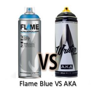 Spray Flame Blue vs AKA