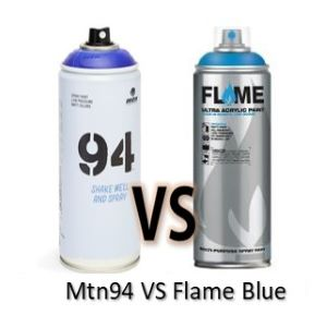 spray mtn94 vs flame blue