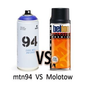 Comparativa Spray mtn94 vs molotow